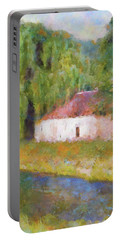 Portable Battery Charger featuring the painting Am Fluss In Sentfenberg Wachau by Menega Sabidussi