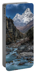 Ama Dablam In Nepal Portable Battery Charger by Mike Reid