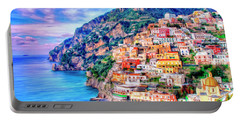 Amalfi Coast At Positano Portable Battery Charger by Dominic Piperata