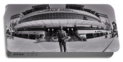 Amalie Arena Black And White Portable Battery Charger
