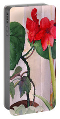 Amaryllis And Begonia Portable Battery Charger