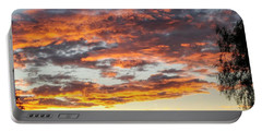 Clouds On Fire Portable Battery Charger