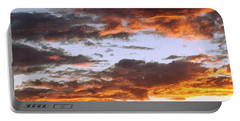 Glorious Clouds At Sunset Portable Battery Charger