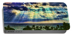 Amazing Grace - Sun Rays Before Sunset By Diana Sainz Portable Battery Charger