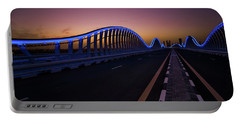 Amazing Night Dubai Vip Bridge With Beautiful Sunset. Private Ro Portable Battery Charger