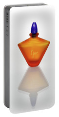 Portable Battery Charger featuring the photograph Amber Perfume Bottle by David and Carol Kelly
