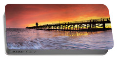 Amber Seal Beach Pier Portable Battery Charger