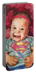 Portable Battery Charger featuring the painting Amelia by Joel Tesch
