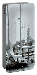 America II And The Statue Of Liberty Portable Battery Charger