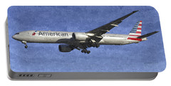 American Airlines Boeing 777 Aircraft Art Portable Battery Charger