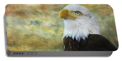 American Bald Eagle At Sunrise Portable Battery Charger