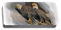 American Bald Eagle Pair Portable Battery Charger
