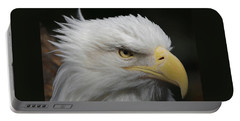 Portable Battery Charger featuring the digital art American Bald Eagle Portrait by Ernie Echols