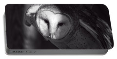 American Barn Owl Monochrome Portable Battery Charger