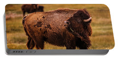 American Bison Portable Battery Charger by Chris Bordeleau