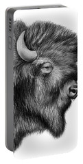 American Bison Portable Battery Charger by Greg Joens
