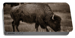 American Buffalo Grazing Portable Battery Charger by Chris Bordeleau
