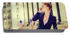 American Businesswoman Working In New York Portable Battery Charger
