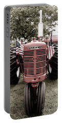 Portable Battery Charger featuring the photograph American Farmall Head On by Meagan  Visser