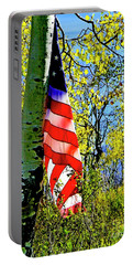 American Flag A Veteran Hunters Homage Portable Battery Charger