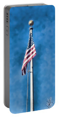 American Flag 'painted' Portable Battery Charger