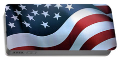 American Flag Portable Battery Charger by Kristin Elmquist