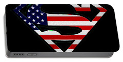American Flag Superman Shield Portable Battery Charger