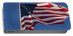 American Flag Portable Battery Charger by Tara Lynn