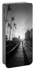 American Flags Detroit Black And White  Portable Battery Charger