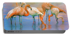 American Flamingos Portable Battery Charger