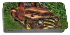 American Ford 1950 F-1 Ford Pickup Truck Art Portable Battery Charger