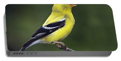 American Golden Finch Portable Battery Charger by William Lee