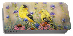American Goldfinch Pair Portable Battery Charger