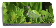 American Iguana Creeping Through A Bush Portable Battery Charger by DejaVu Designs