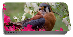 American Kestrel In The Springtime Portable Battery Charger