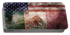 American Mexican Tattered Flag  Portable Battery Charger