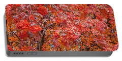 American Mountain Ash In Autumn Portable Battery Charger