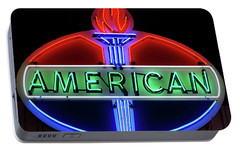 Portable Battery Charger featuring the photograph American Oil Sign by Sandy Keeton