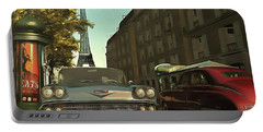 American  Oldtimers In Paris Portable Battery Charger