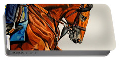 American Pharoah - Triple Crown Winner In White Portable Battery Charger