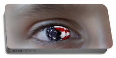American Proud - Stars And Stripes Forever Portable Battery Charger by Pedro Cardona