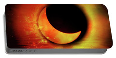 Portable Battery Charger featuring the photograph American Solar Eclipse Turned Into Art  by Aaron Berg
