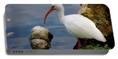 American White Ibis Portable Battery Charger