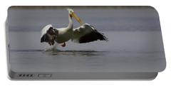 American White Pelican Da Portable Battery Charger by Ernie Echols