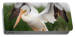 American White Pelican Perched Portable Battery Charger