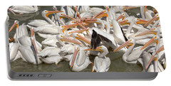 American White Pelicans Portable Battery Charger by Eunice Gibb