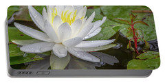 American White Water Lily Portable Battery Charger