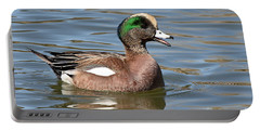 Portable Battery Charger featuring the photograph American Widgeon Calling From The Water by Max Allen