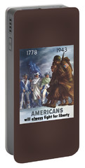 Americans Will Always Fight For Liberty Portable Battery Charger