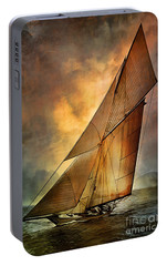 Portable Battery Charger featuring the digital art America's Cup 1 by Andrzej Szczerski